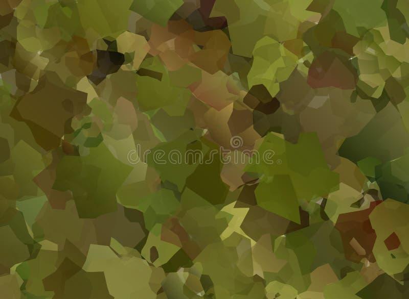 As forças armadas abstratas do vetor camuflam o fundo ilustração stock