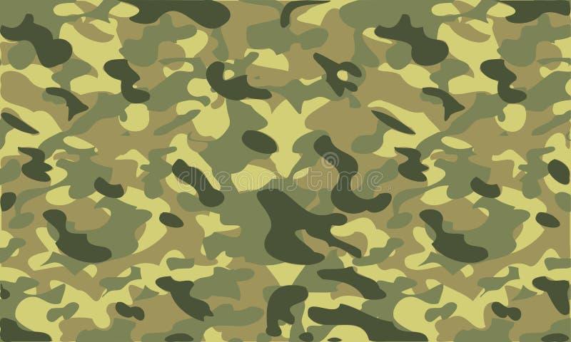 As forças armadas acastanhadas camuflam o fundo ilustração stock