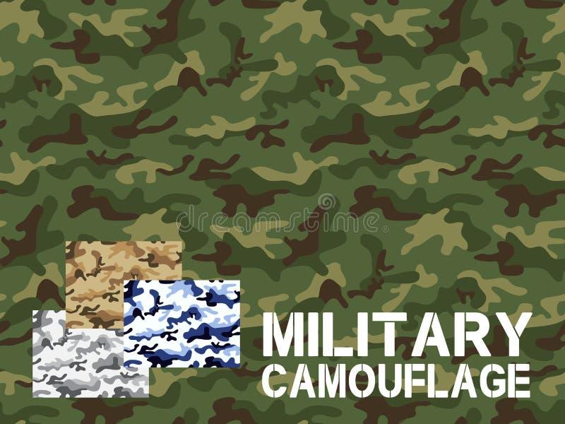 As forças armadas camuflam o teste padrão sem emenda ilustração royalty free