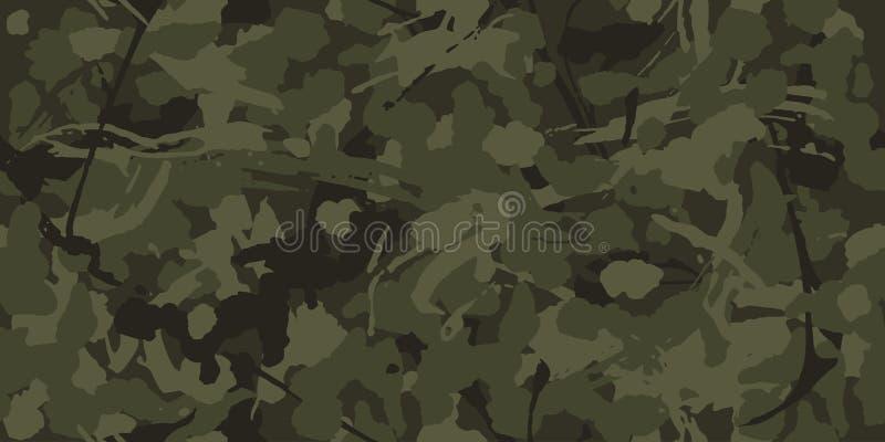 As forças armadas camuflam, texture as repetições sem emenda Teste padrão de Camo para a roupa do exército ilustração royalty free