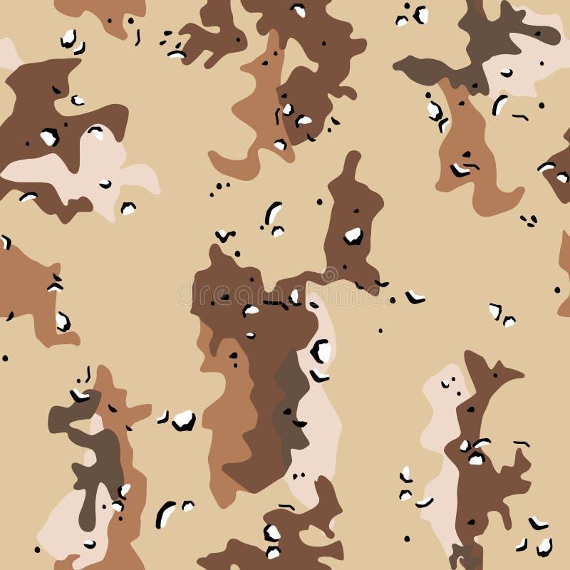As forças armadas do deserto camuflam o teste padrão sem emenda ilustração royalty free