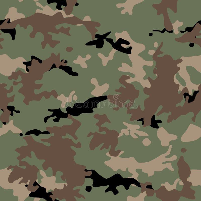 As forças armadas do exército camuflam o teste padrão sem emenda ilustração stock