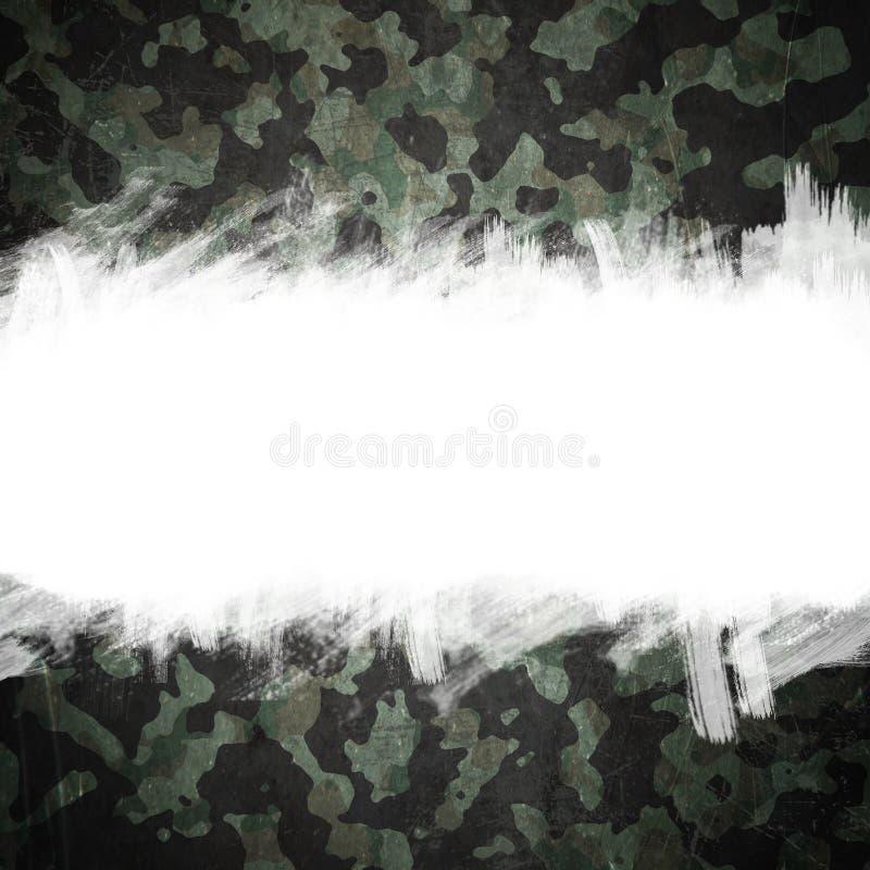 As forças armadas do Grunge camuflam o fundo com espaço para o texto ilustração royalty free