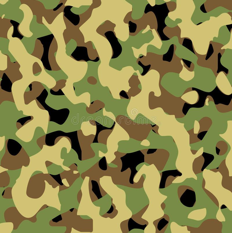 As forças armadas do vetor modelam ilustração stock