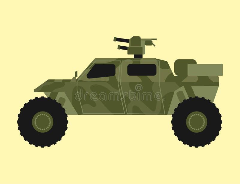 As forças armadas transportam arma blindada dos portadores da camuflagem dos pessoais do sistema da armadura da técnica da indúst ilustração stock