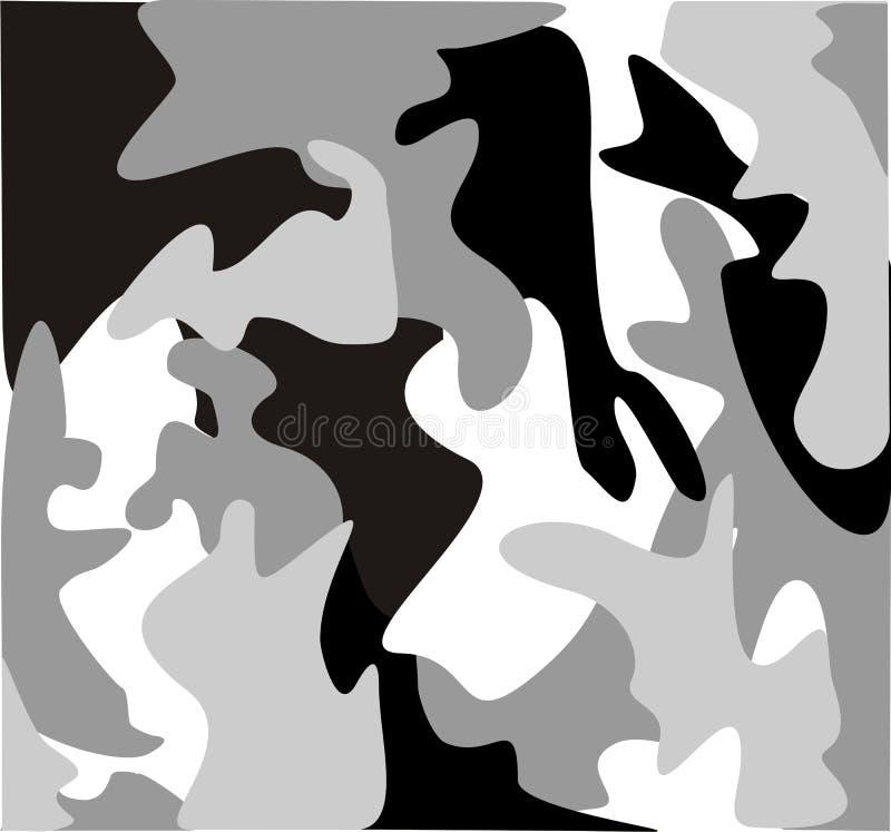 As forças armadas urbanas camuflam ilustração do vetor