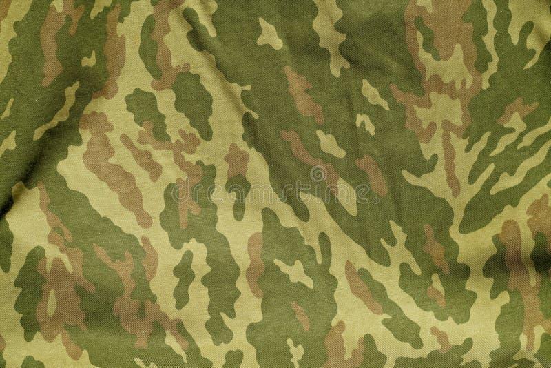 As forças armadas verdes e marrons camuflam o teste padrão uniforme ilustração royalty free
