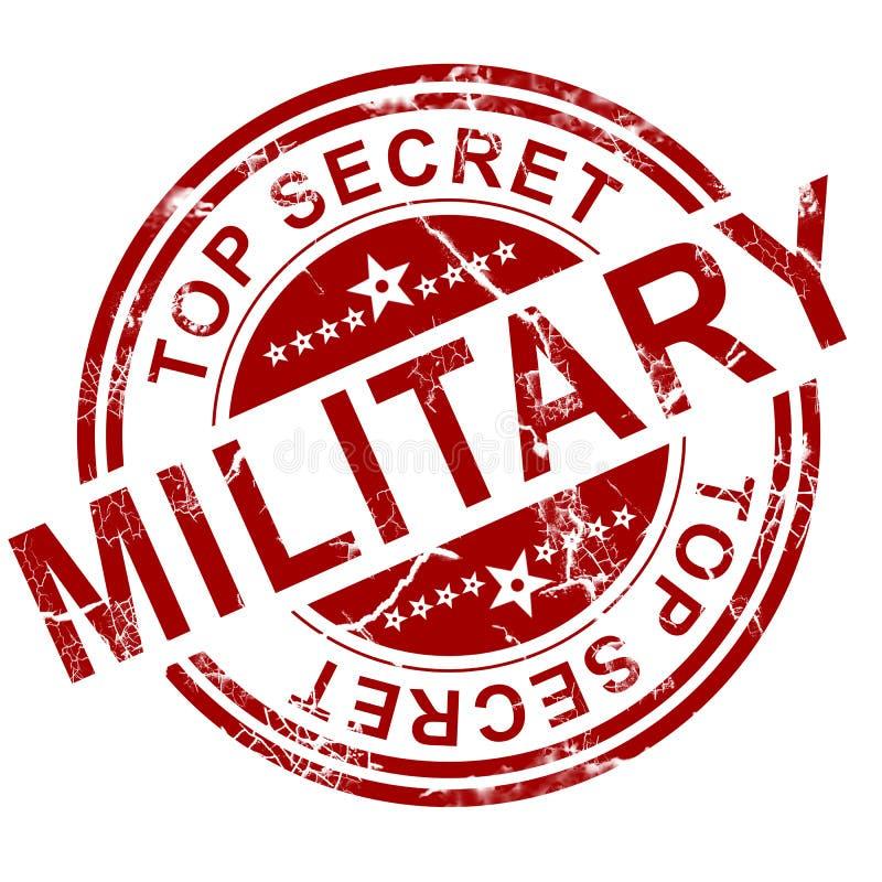 As forças armadas vermelhas carimbam ilustração stock
