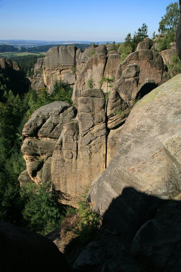 As formações de rocha famosas em República Checa chamaram Divadlo & x28; Teatro & x29; imagens de stock royalty free