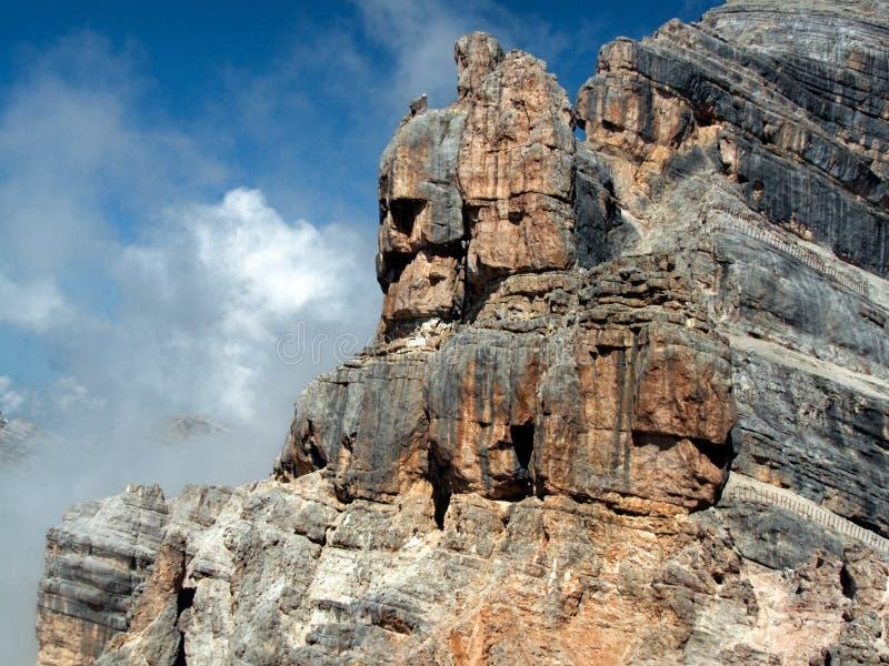 As formações de rocha no Tofana di Mezzo repicam imagem de stock royalty free