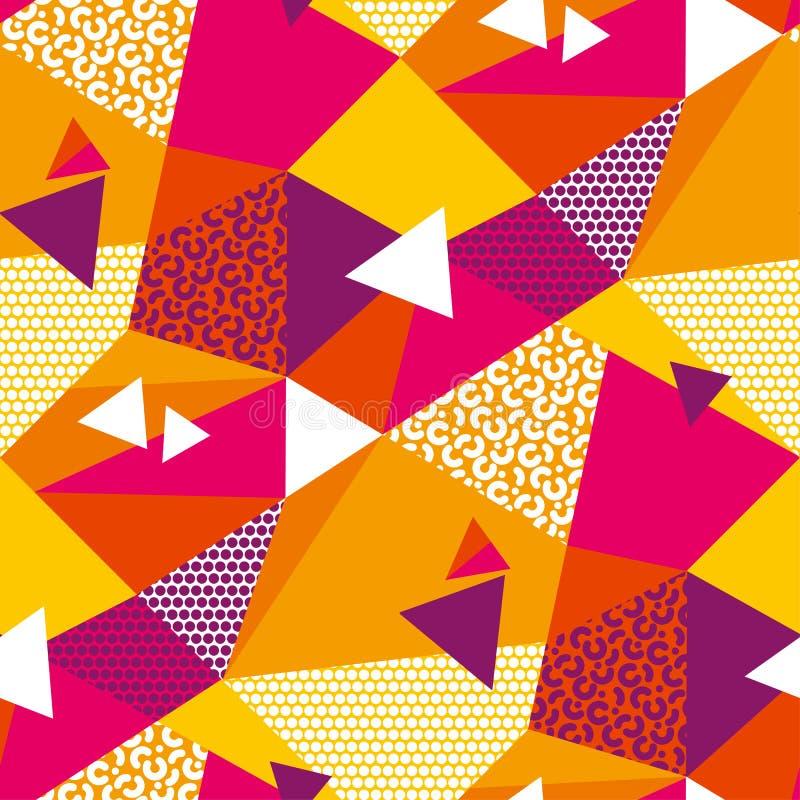 As formas geométricas abstratas colorem o teste padrão sem emenda ilustração royalty free