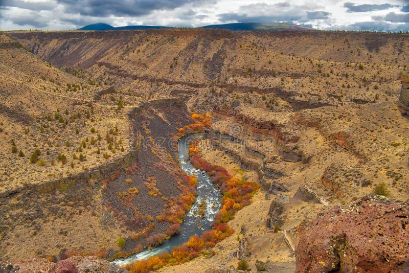 As gargantas da rocha formam ao longo do rio de Deschutes aqui em Oregon central imagem de stock royalty free