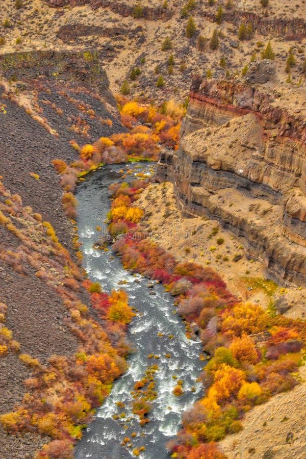 As gargantas da rocha formam ao longo do rio de Deschutes aqui em Oregon central imagens de stock
