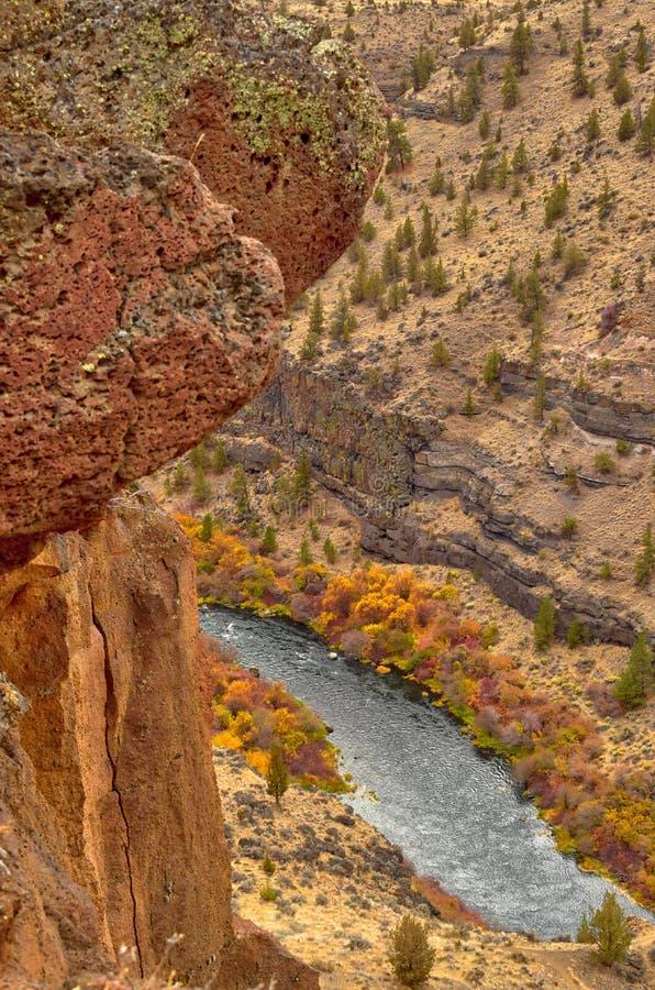 As gargantas da rocha formam ao longo do rio de Deschutes aqui em Oregon central imagem de stock