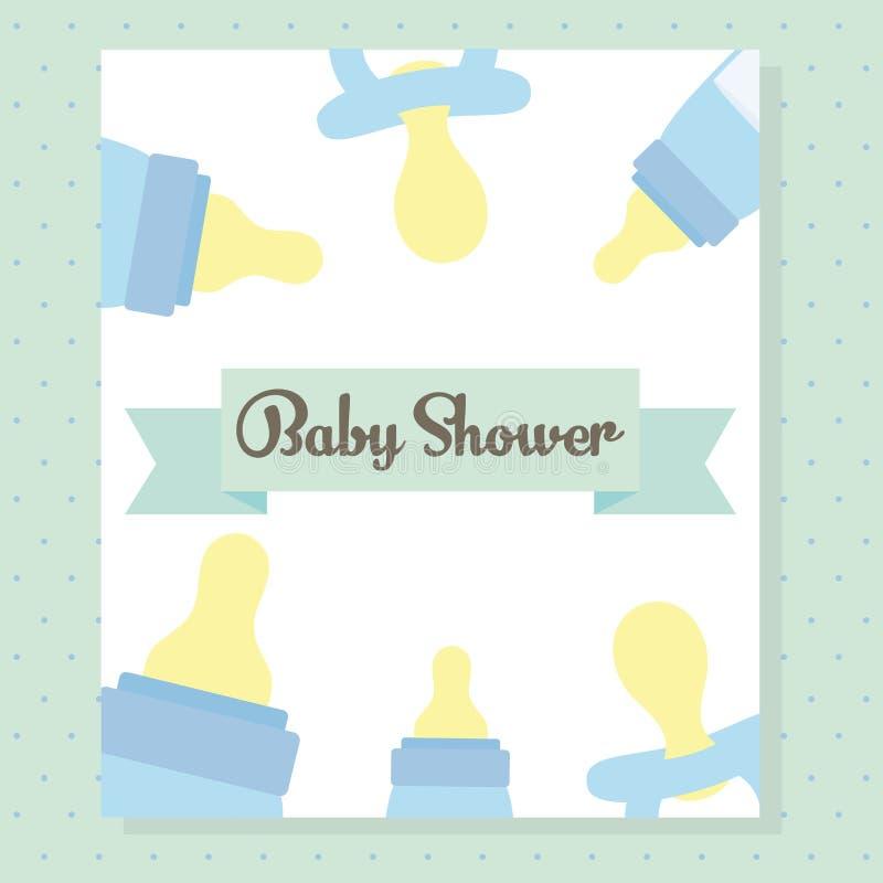 As garrafas de bebê ordenham o quadro dos acessórios ilustração royalty free