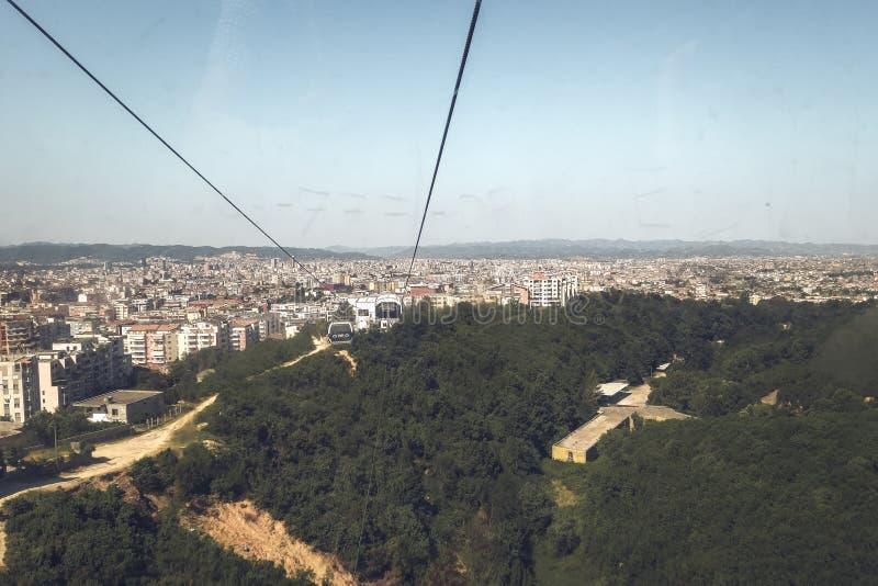 As grandes cidades da Albânia imagem de stock