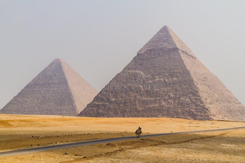 As grandes pirâmides de Egito fotos de stock royalty free
