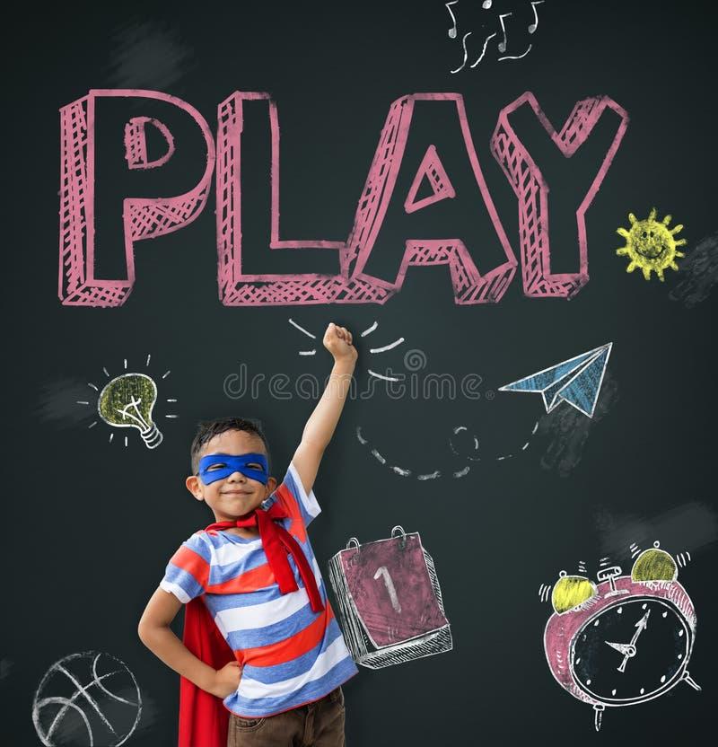 As ideias do estudo aprendem o conceito das crianças imagens de stock royalty free