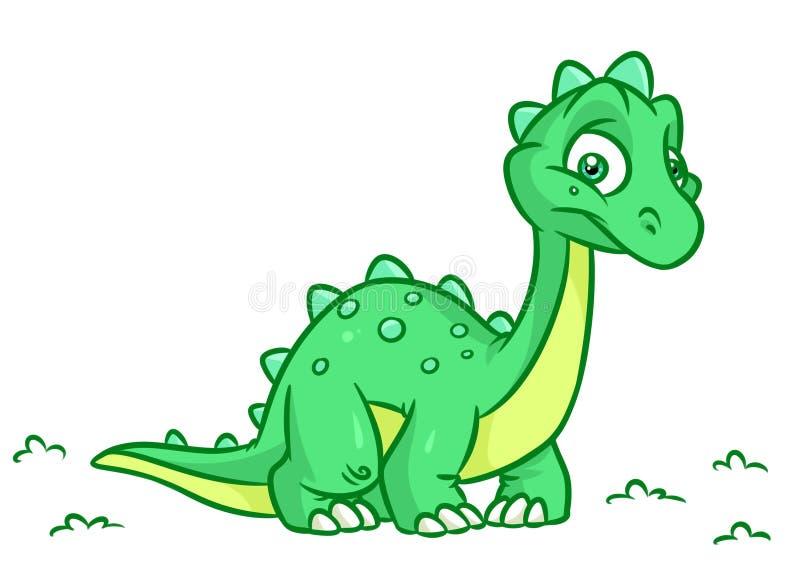 As ilustrações dos desenhos animados do Diplodocus do dinossauro isolaram o caráter do animal da imagem ilustração royalty free