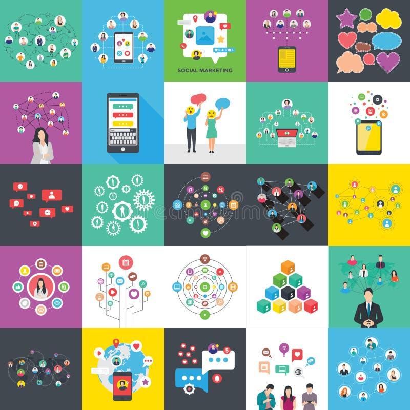 As ilustrações lisas de Infographics embalam ilustração stock