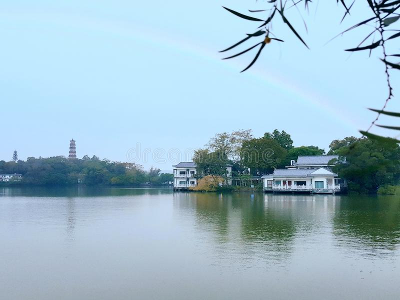 As imagens bonitas do lago ocidental, um ponto cênico em China imagens de stock