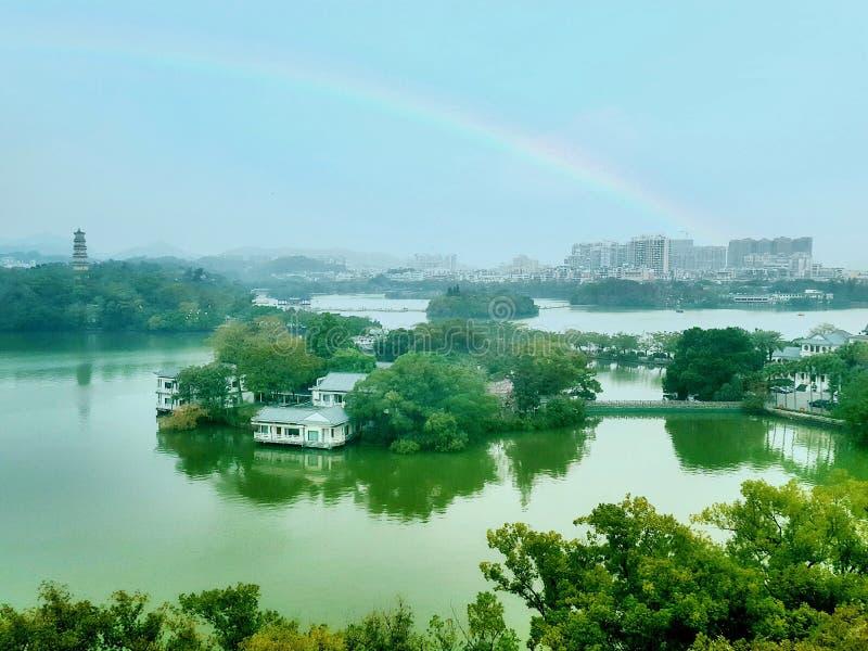 As imagens bonitas do lago ocidental, um ponto cênico em China imagens de stock royalty free