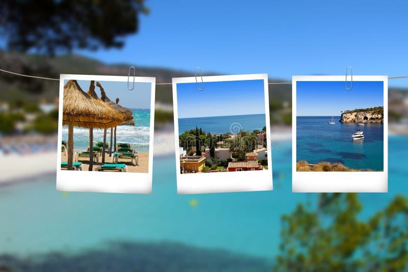 As imagens de Mallorca vacations pendurando na corda fotografia de stock