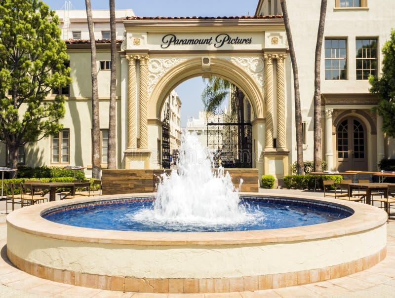 As imagens dos estúdios de Paramount dentro da porta Hollywood visitam no 14 de agosto de 2017 - Los Angeles, LA, Califórnia, CA imagens de stock