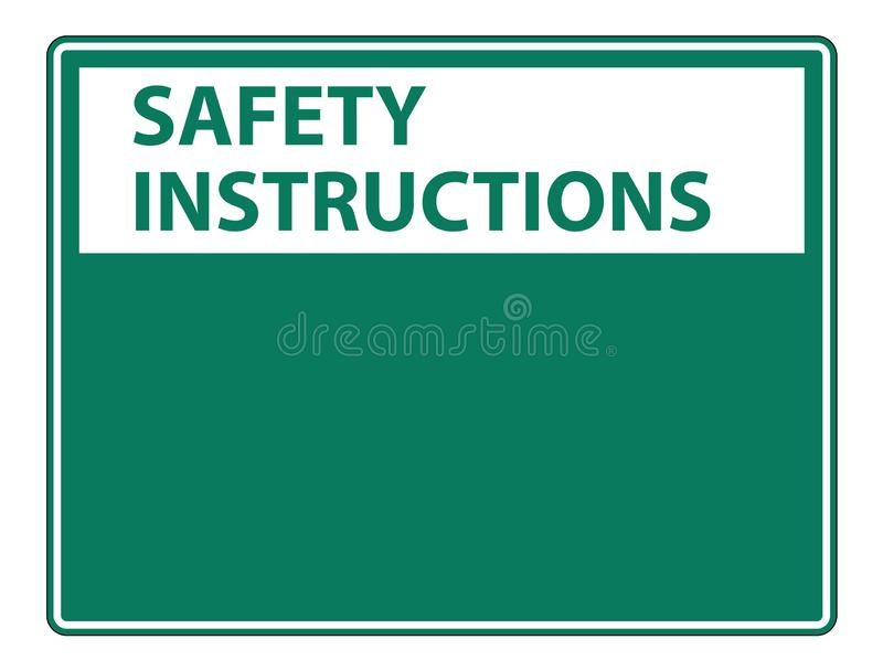 as instruções de segurança do símbolo assinam a etiqueta no fundo branco ilustração stock