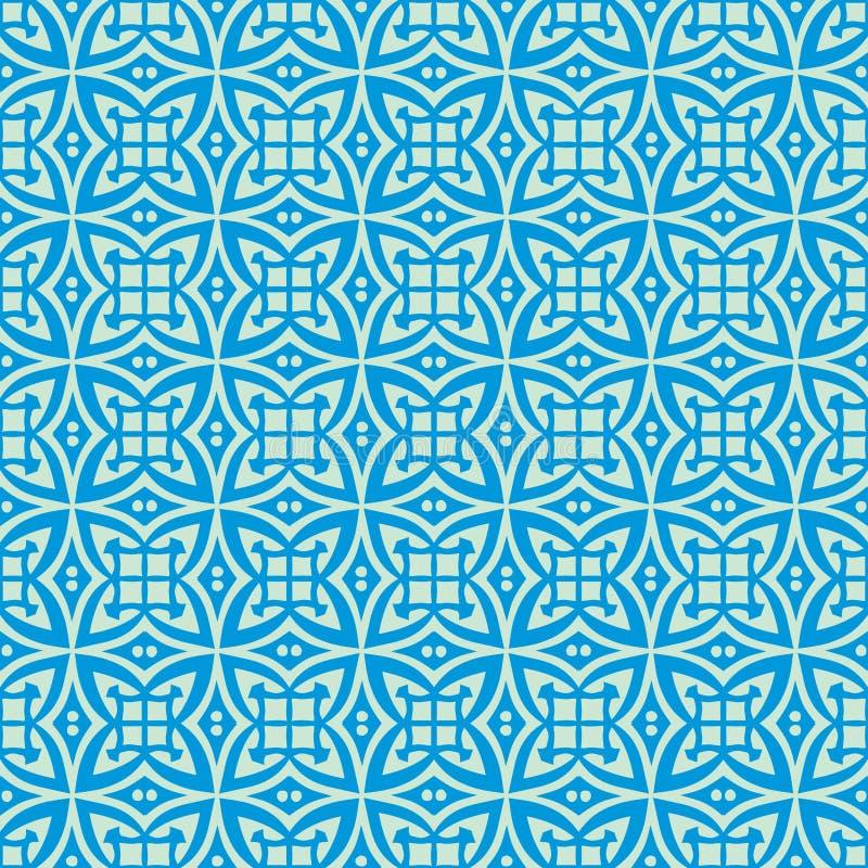 As janelas bonitas projetam a ilustração sem emenda do teste padrão do fundo no tom azul ilustração stock