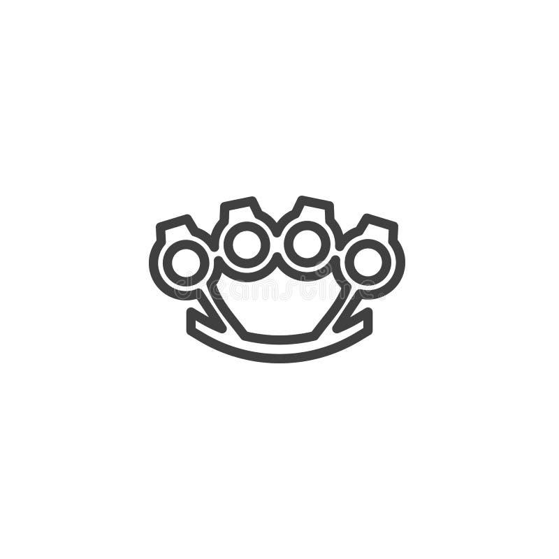 As juntas de bronze alinham o ícone ilustração stock
