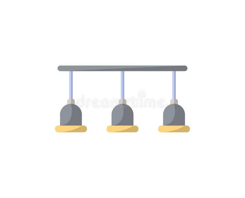 As lâmpadas isolaram o ícone no estilo liso ilustração stock