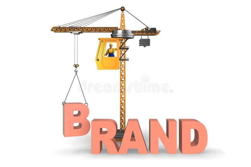 As letras de levantamento do tipo do guindaste no conceito comercial ilustração do vetor