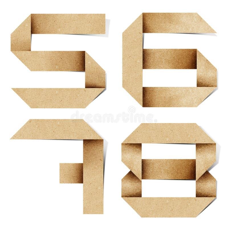 As letras do alfabeto de Origami recicl o ofício de papel foto de stock