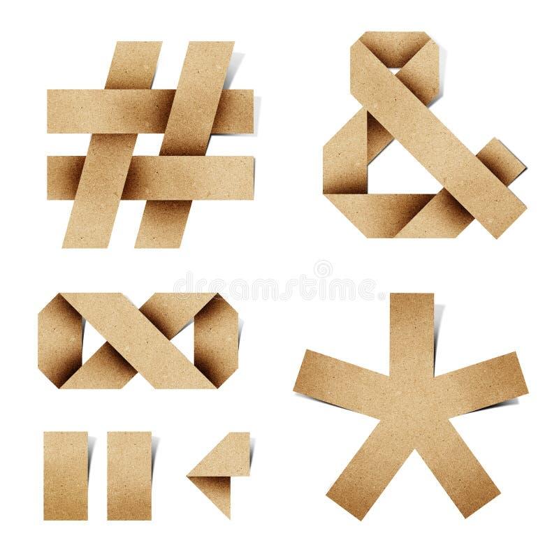 As letras do alfabeto de Origami recicl o ofício de papel fotografia de stock