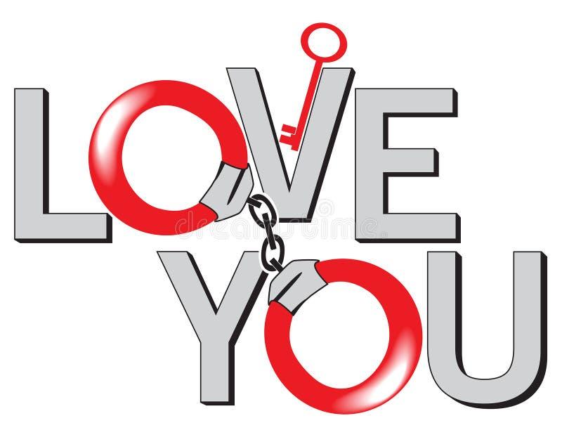 As ligações do amor ilustração do vetor