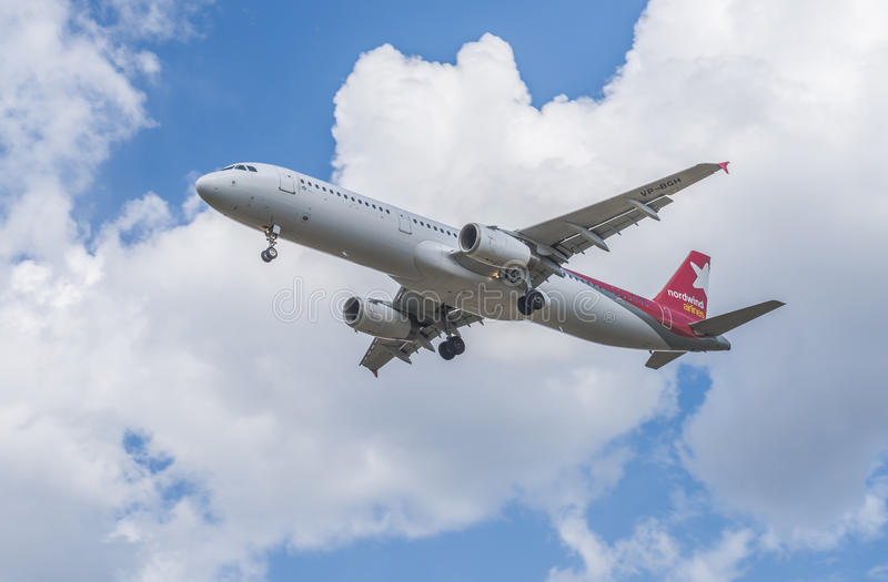As linhas aéreas de Nordwind da linha aérea fotografia de stock