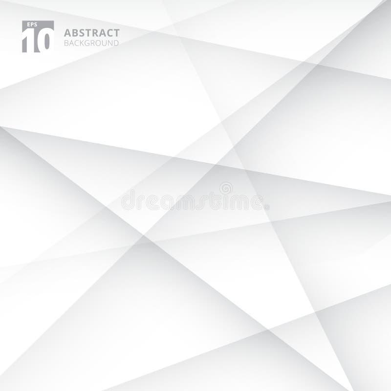 As linhas abstratas cruzam o fundo branco e cinzento geométrico da cor ilustração do vetor