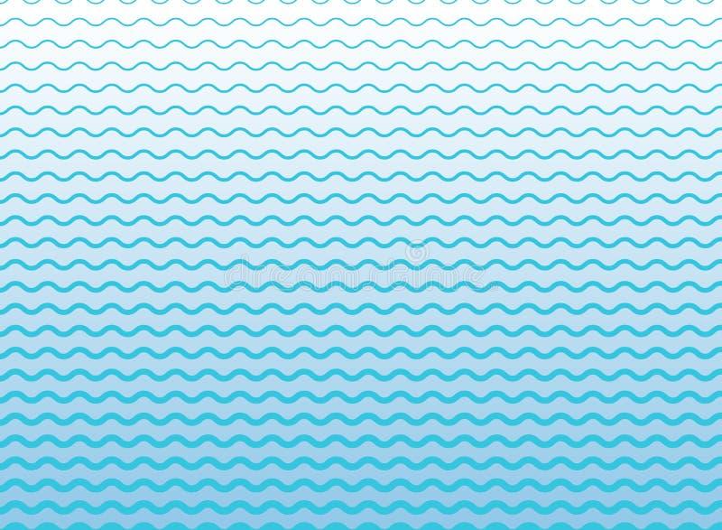As linhas azuis abstratas acenam, teste padrão ondulado das listras, superfície áspera ilustração royalty free