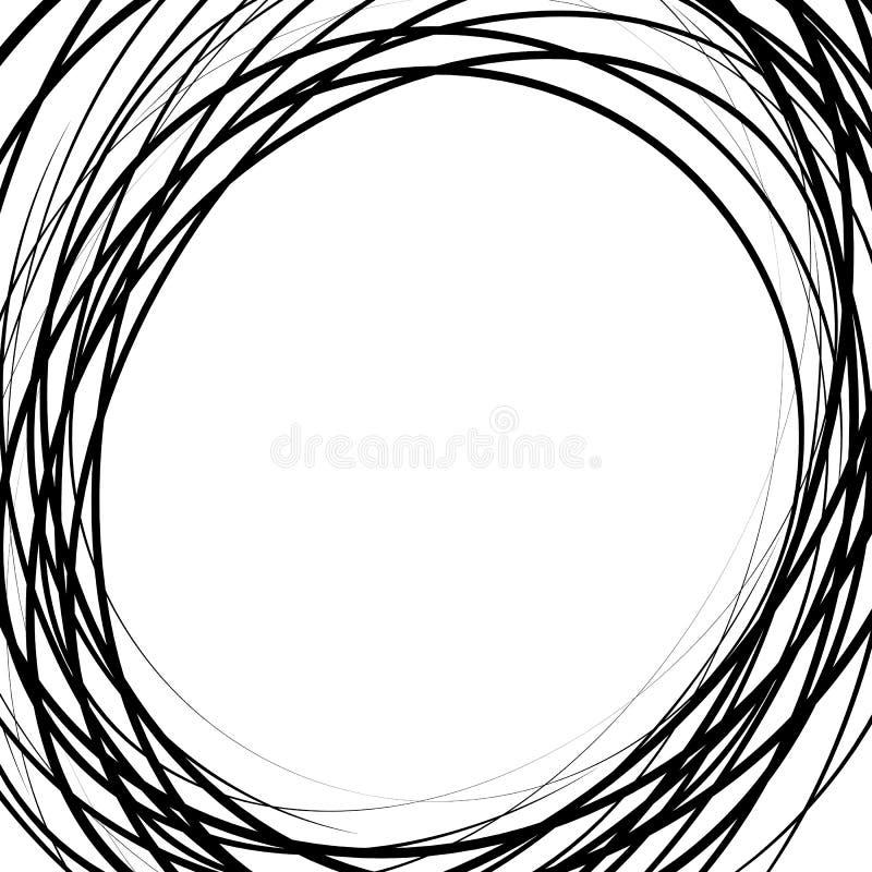 As linhas caóticas aleatórias abstraem a textura, teste padrão no formato quadrado ilustração royalty free