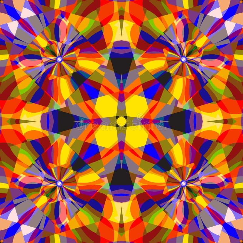 As linhas coloridas ondas e quadrados abstraem a ilustração geométrica do vetor do fundo ilustração do vetor