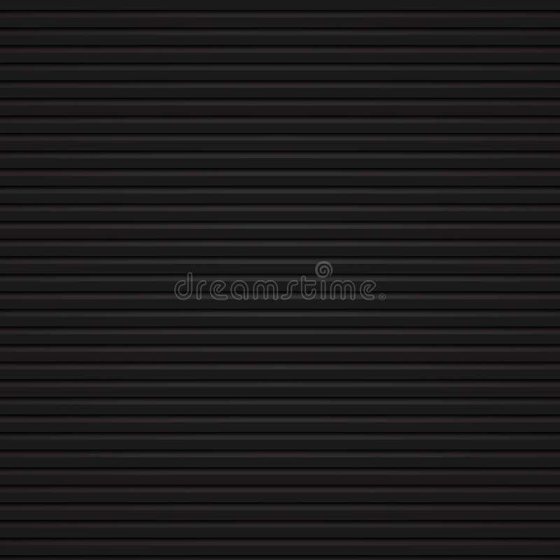 As linhas corajosas pretas abstratas modelam realístico horizontal em b escuro ilustração stock