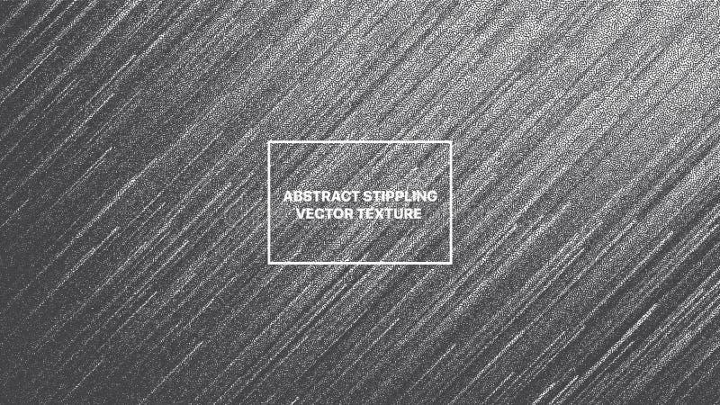 As linhas de fluxo dinâmicas do vetor pontilharam o pulso aleatório Art Abstract Background de Dotwork ilustração royalty free