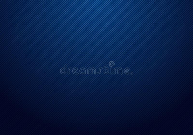 As linhas diagonais abstratas listraram a textura clara e azul do fundo do inclinação para seu negócio ilustração do vetor