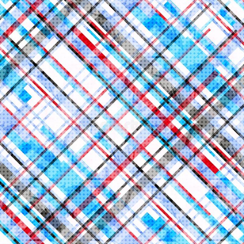 As linhas do vermelho azul e do preto em um fundo branco vector a ilustração ilustração royalty free