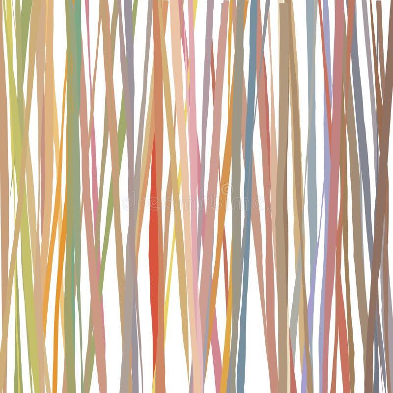 As linhas tiradas a mão livre da escova basearam o teste padrão colorido ilustração do vetor