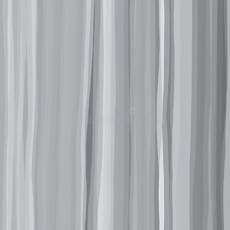 As linhas tiradas a mão livre da escova basearam o teste padrão do grayscale ilustração royalty free