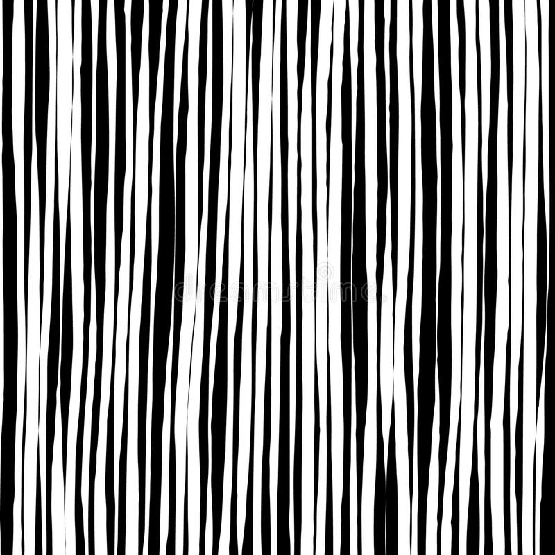 As linhas tiradas a mão livre da escova basearam o teste padrão preto e branco ilustração do vetor