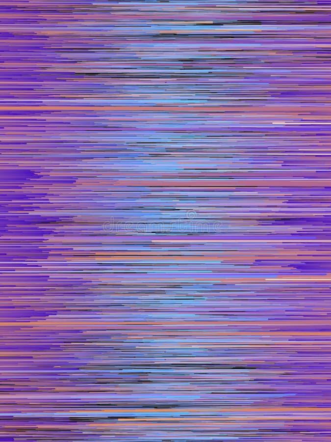 As linhas vermelhas de Digitas e azuis horizontais abstraem o fundo rendição 3d ilustração do vetor