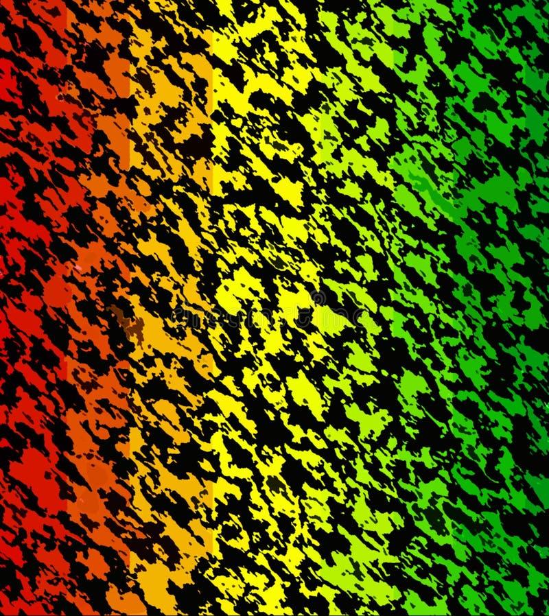 As listras caóticas escuras da Multi-cor do sumário da pintura de Digitas em máscaras diferentes da reggae colorem o fundo ilustração stock